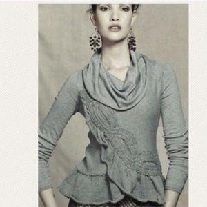 Anthropologie Moth cowlneck cashmere blend sweater